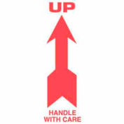 "Up Handle W/Care 2-1/2"" x 7"" - White / Red"