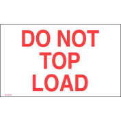 """Don't Top Load 3"""" x 5"""" - White / Red"""