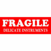 """Delicate Instrument 1-1/2"""" x 4"""" - White / Red"""