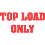 "Top Load Only 3"" x 5"" - White / Red"