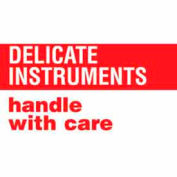"Delicate Instruments Handle With Care 3"" x 5"" - White / Red"