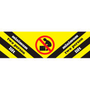 """Minimum Two Persons Lift 2"""" x 8"""" - Yellow / Black / Red / White"""