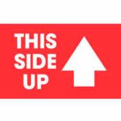 "This Side Up 3"" x 5"" - Red / White"
