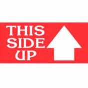 "2"" x 4"" This Side Up Label - Red / White"