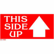 "3"" x 6"" This Side Up Label - Red / White"