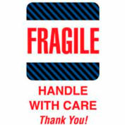 "Fragile Handle With Care Thank You 6"" x 4"" - White / Red / Black / Blue"