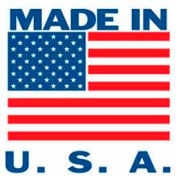 "Made In USA 2"" x 2"" - White / Red / Blue"
