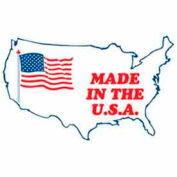 "Made In The USA 2"" x 3"" - White / Red / Blue"