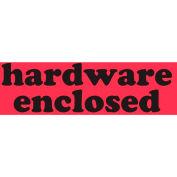 "Hardware Enclosed 1-1/2"" x 3-1/2"" - Fluorescent Red / Black"