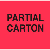 "Partial Carton 3"" x 4"" - Fluorescent Red / Black"