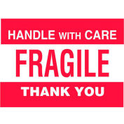 "Fragile 3"" x 5"" - White / Red"