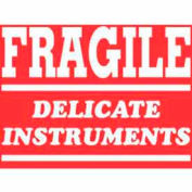"Fragile Delicate Instruments 3"" x 4"" - Red / White"