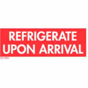"""1-1/2"""" x 4"""" Refrigerate Upon Arrival - White / Red"""
