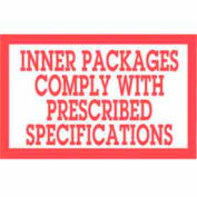 """Inner Package Comply 3"""" x 5"""" - White / Red"""