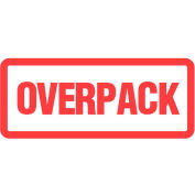 "Overpack 2"" x 6"" - White / Red"