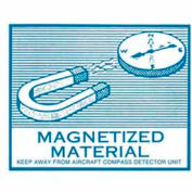 "Magnetized 4-5/16"" x 3""-9/16"" - White / Blue"