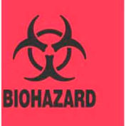 """Biohazard 4"""" x 4"""" - Fluorescent Red / Black"""