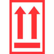 "2 Arrows Up Label 4"" x 6"" - White / Red"