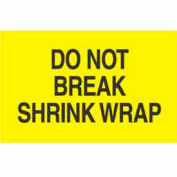 "Don't Break Shrink Wrap 3"" x 5"" - Bright Yellow / Black"