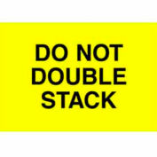 """Don't Double Stack 2"""" x 3"""" - Bright Yellow / Black"""