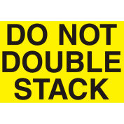 """Don't Double Stack 3"""" x 5"""" - Bright Yellow / Black"""