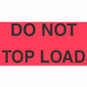 "Do Not Top Load 3"" x 5"" - Fluorescent Red / Black"