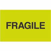 "Fragile 3"" x 5"" - Fluorescent Green / Black"