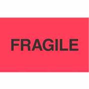 "Fragile 3"" x 5"" - Fluorescent Red / Black"