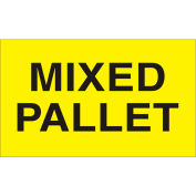 """Labels w/ """"Mixed Pallet"""" Print, 5""""L x 3""""W, Bright Yellow, Roll of 500"""