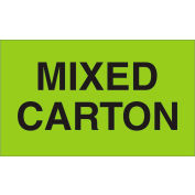 "Mixed Carton 3"" x 5"" - Fluorescent Green / Black"