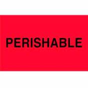 """Perishable 3"""" x 5"""" - Fluorescent Red / Black"""