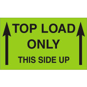"""Top Load Only-This Side Up 3"""" x 5"""" - Fluorescent Green / Black"""