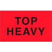 "Top Heavy 3"" x 5"" - Fluorescent Red / Black"