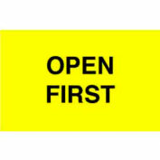 """Open First 3"""" x 5"""" - Bright Yellow / Black"""