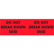 "Don't Break Down Skid 3"" x 10"" - Fluorescent Red / Black"