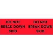 "Don't Break Down Skid 3"" x 10"" - Fluorescent Red / Black"
