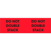 """Don't Double Stack 3"""" x 10"""" - Fluorescent Red / Black"""