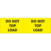 """Don't Top Load 3"""" x 10"""" - Bright Yellow / Black"""