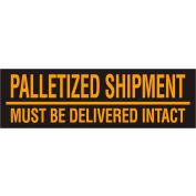 "Palletized Shipment 3"" x 10"" - Fluorescent Orange / Black"