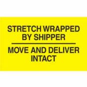 "Stretch Wrapped By 3"" x 5"" - Bright Yellow / Black"