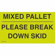"Mixed Pallet - Please Break 3"" x 5"" - Fluorescent Green / Black"