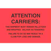 """Attn.Carriers 4"""" x 6"""" - Fluorescent Red / Black"""