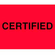 """Certified 3"""" x 5"""" - Fluorescent Red / Black"""