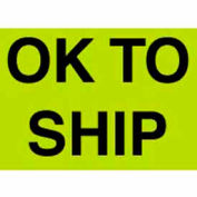 "Ok To Ship 3"" x 5"" - Fluorescent Green / Black"