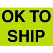 "Ok To Ship 3"" x 5"" - Fluorescent Green / Black"