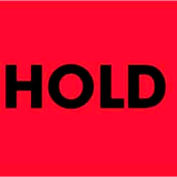 """Hold 2"""" x 3"""" - Fluorescent Red / Black"""