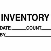 "Inventory Date 1-3/8"" x 2"" - White / Black"