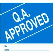 "Qa Approved 4"" x 4"" - Blue / White"