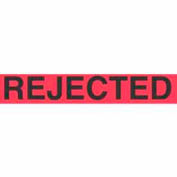 """Rejected 1-3/8"""" x 2"""" - Fluorescent Red / Black"""