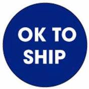 """Ok To Ship 2"""" Dia. - Blue / White"""